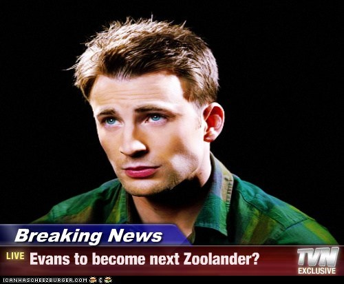 Breaking News - Evans to become next Zoolander?