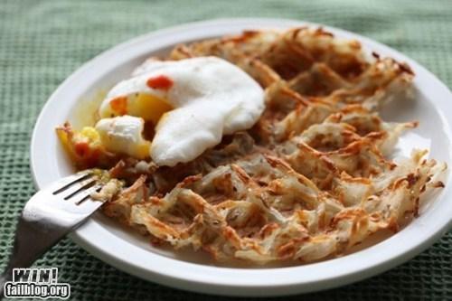 breakfast,food,hash browns,team breakfast food,waffle