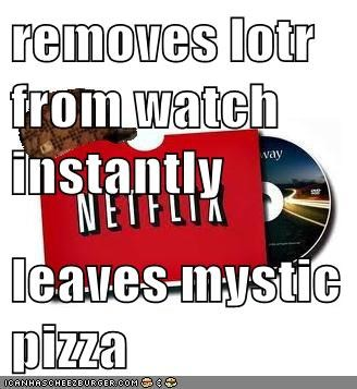 removes lotr from watch instantly   leaves mystic pizza