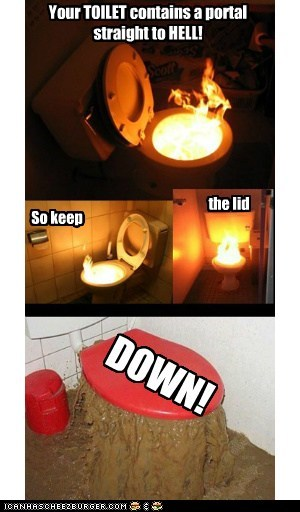 Your TOILET contains a portal  straight to HELL!