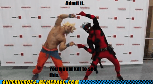 deadpool,fun,fusion,goku