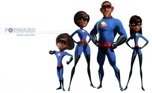 barack obama,first family,obamas,the incredibles