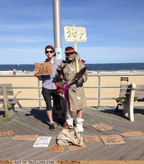 Homeless Guy Sign Win