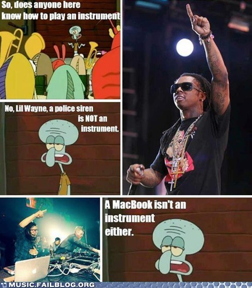 Music FAILS: Squidward Is Disappoint