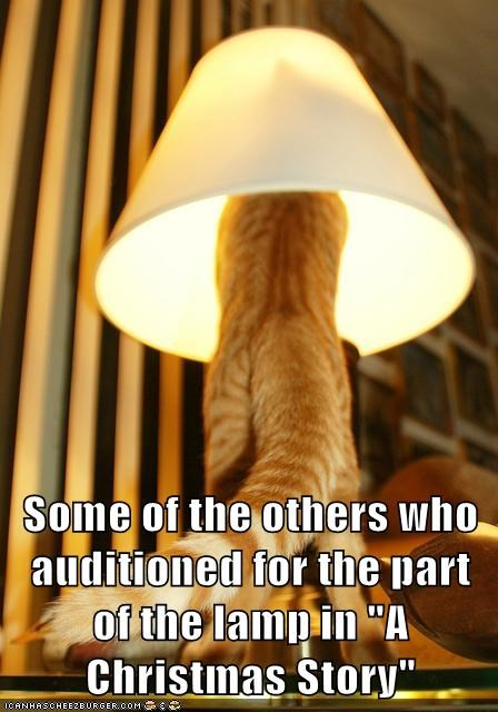 "Some of the others who auditioned for the part of the lamp in ""A Christmas Story"""