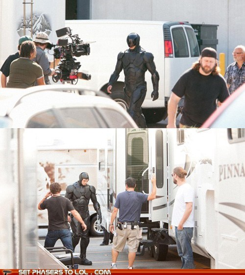 "Behind the Scenes Set Pic of ""Robocop"" Reveals New Costume"