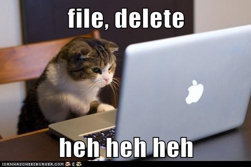 file, delete  heh heh heh