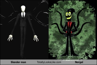 Slender man Totally Looks Like Nergal