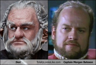 Dori (The Hobbit) Totally Looks Like Kelsey Grammer (Captain Morgan Bateson)