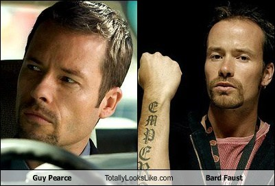 Guy Pearce Totally Looks Like Bard Faust