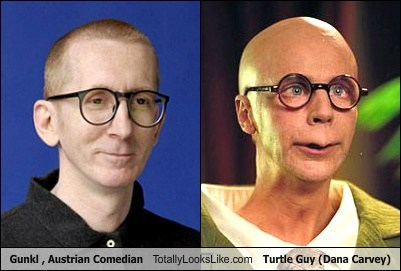 Gunkl (Austrian Comedian) Totally Looks Like Turtle Guy (Dana Carvey)