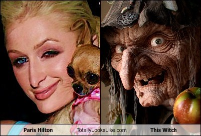 Totally Looks Like: Paris Hilton Totally Looks Like This Witch From Snow White