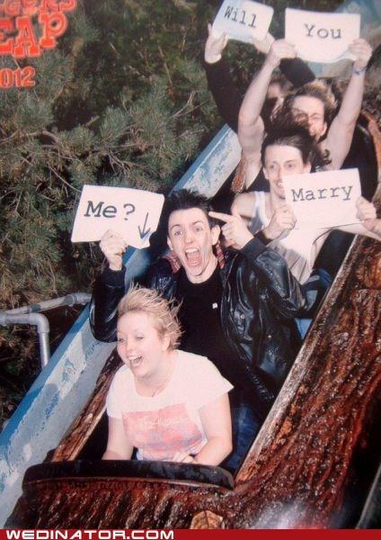 amusement park,proposal,ride,splash mountain,surprise