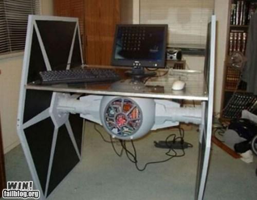 design,desk,nerdgasm,tie fighter