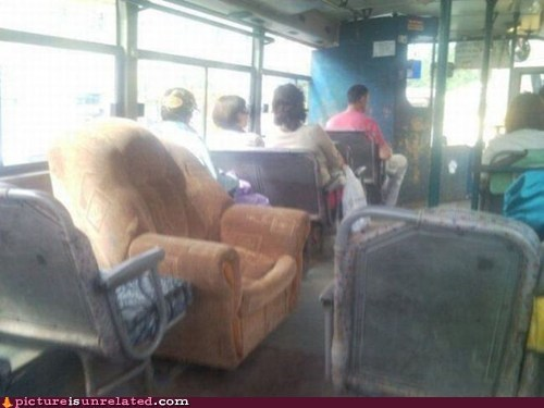 "The Easy Chairs on the Bus Go ""Squeak Squeak Squeak"""