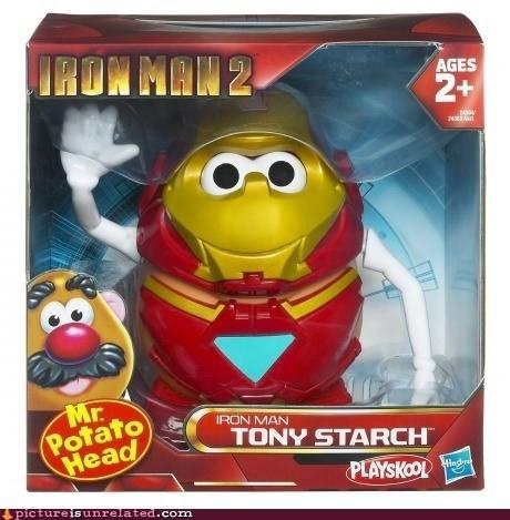 iron man,potato,starch,tony stark,toy