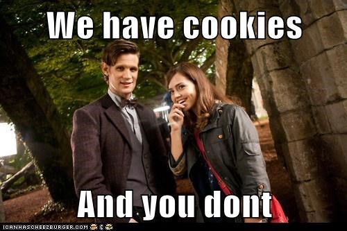Matt Smith,jenna-louise coleman,Clara Oswin,cookies,you-dont,taunting,the doctor,doctor who