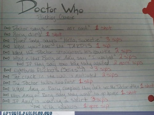 After 12: The Doctor Who Drinking Game!