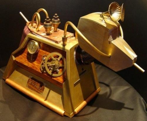 doctor who,fan art,k-9,sculpture,Steampunk,the doctor