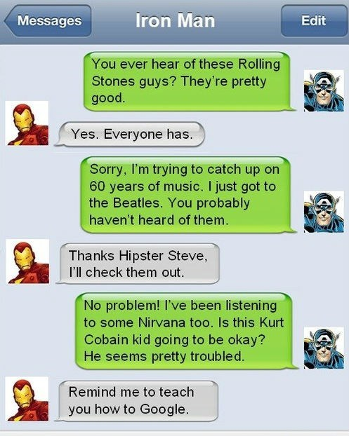 TDW Geek: Avenger Texts of the Day