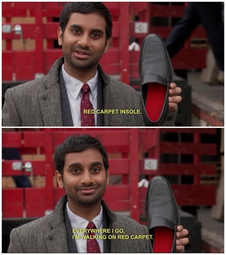 aziz ansari,class,parks and rec,red carpet,TV