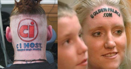 advertisment tattoos,forehead tattoos,golden palace