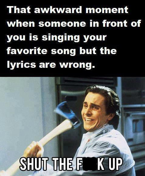 american psycho,song lyrics