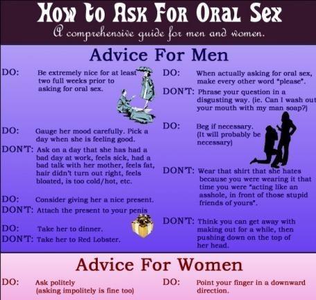 advice,men vs women,oral sex,say please
