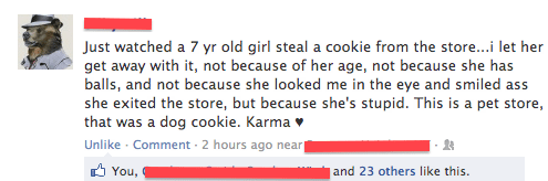 Failbook: Karma's a Female Dog