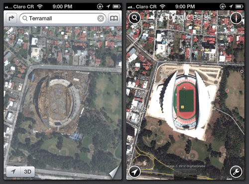 Amazing iOS 6 Maps of the Day