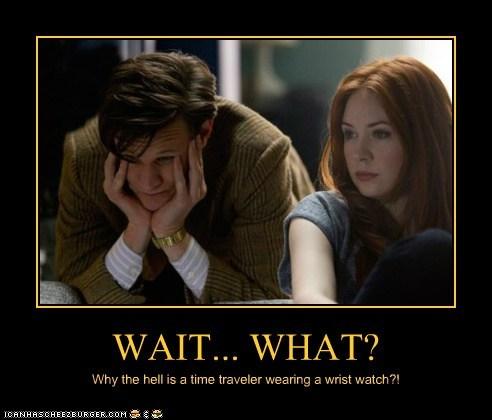 doctor who,the doctor,Matt Smith,karen gillan,time traveler,wristwatch,wait what,amy pond