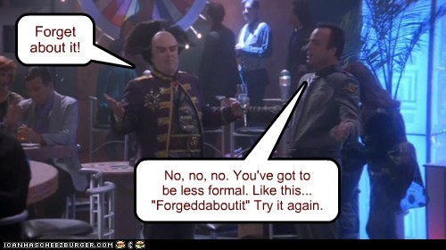 jerry doyle,michael garibaldi,peter jurasik,londo mollari,forget about it,formal,practicing,advice,Babylon 5