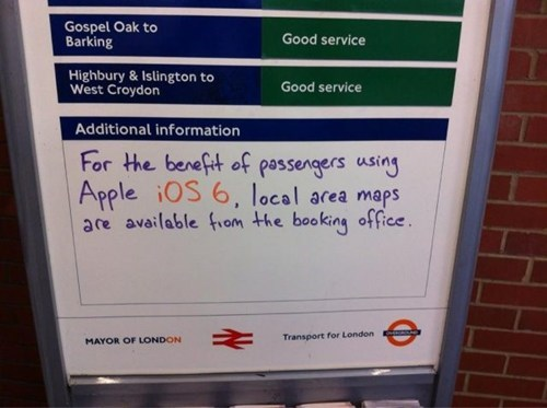 apple maps,directions,google maps,ios 6,lost,update