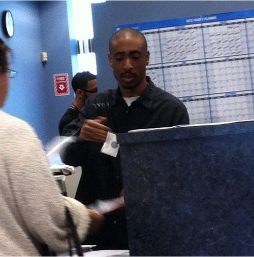 Tupac Shakur is Alive and Well... at the DMV