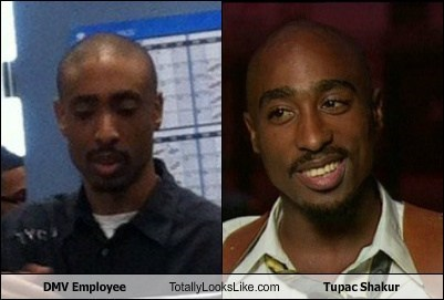 DMV Employee Totally Looks Like Tupac Shakur