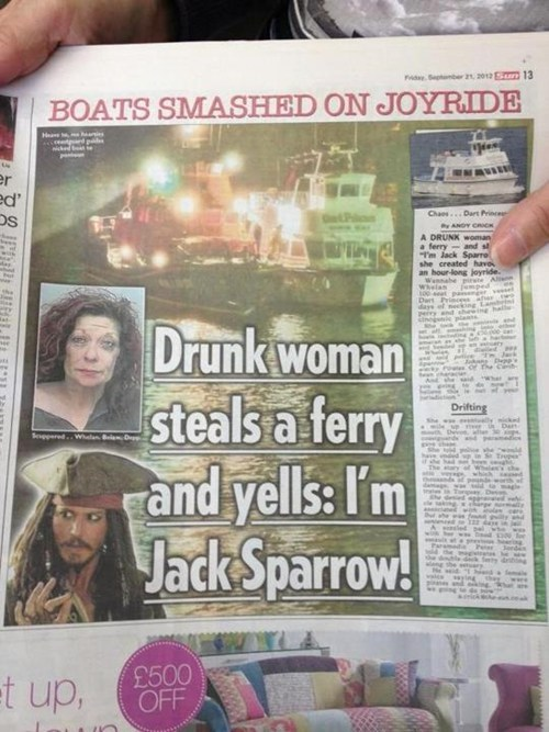 best of week,cruise,drunk,Hall of Fame,jack sparrow,news,Probably bad News