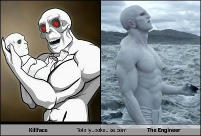 Killface Totally Looks Like The Engineer from Prometheus