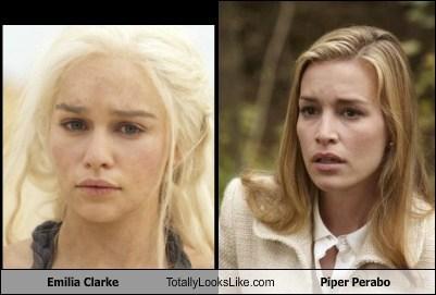 Emilia Clarke Totally Looks Like Piper Perabo