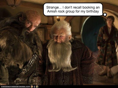 dwarves,strange,amish,rock,birthday,Party,The Hobbit,Bilbo Baggins,Martin Freeman