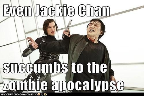 Even Jackie Chan  succumbs to the zombie apocalypse