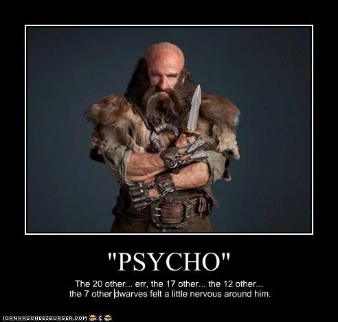 psycho,dwarves,nervous,killing off,knife,The Hobbit,dwalin,graham mctavish