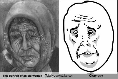 This Portrait of an Old Woman Totally Looks Like Okay Guy
