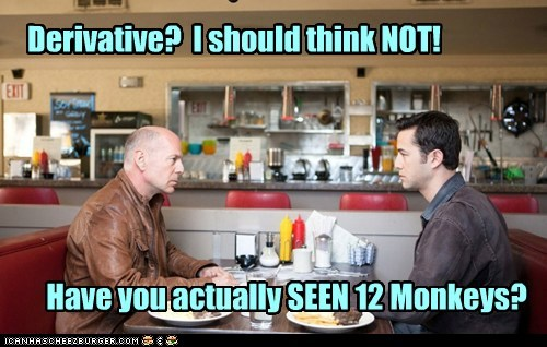 bruce willis,Joseph Gordon-Levitt,12 Monkeys,derivative,i think not,time travel,looper