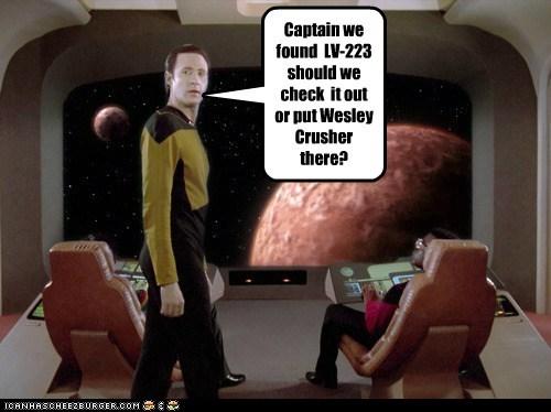 brent spiner,wesley crusher,the next generation,data,Star Trek,LV-223,planet