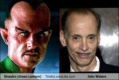 Sinestro (Green Lantern) Totally Looks Like John Waters