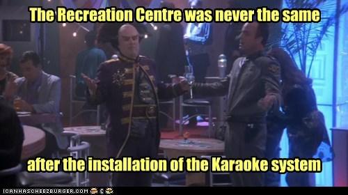 Babylon 5,recreation,singing,peter jurasik,karaoke,never the same,londo mollari