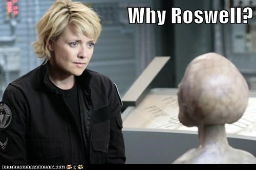 samantha carter,roswell,amanda tapping,alien,why,Stargate