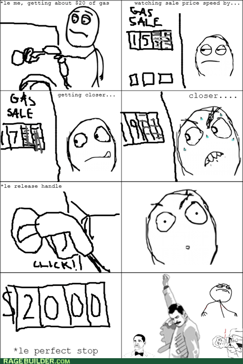 Rage Comics: The Perfect Gas Pump