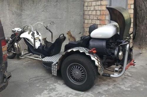 Steampunk/Heavy Metal Trailer-Motorcycle Hybrids, Anyone?
