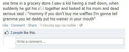 facebook,grandma,grocery store,waffles